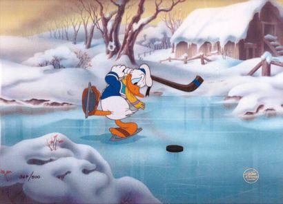 HOCKEY CHAMP Studio Disney 1939. Cellulo...