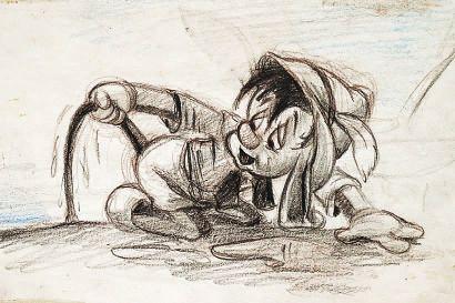 PINOCCHIO Studio Walt Disney 1940. Dessin...