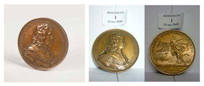 Medaille de table Buste de Pierre le Grand....