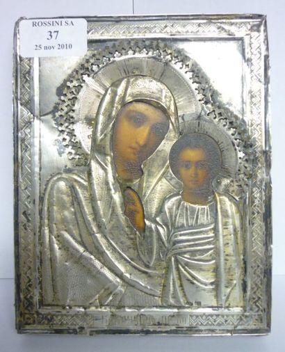 Vierge de Kazan vers 1900 Marques et poincons:...