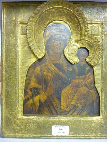 Vierge Hodigitria. Le Christ a gauche de...