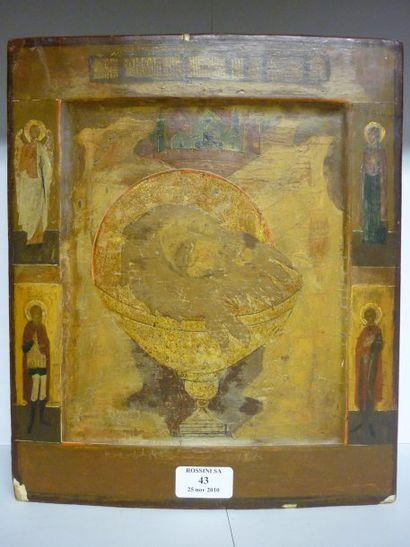 Tete de Saint Jean Baptiste vers 1800 Entoure...