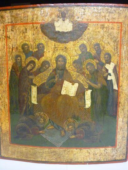Christ en majeste avec les douze apotres...