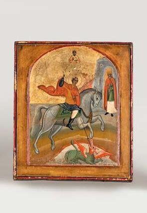 Saint Georges terrassant le dragon - 19e...