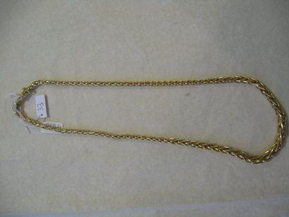 Collier en or jaune formé d'une maille