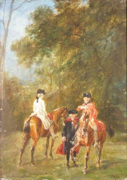 BROWN John Lewis, 1829-1890  Deux cavaliers...