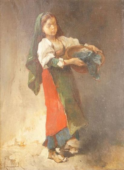 RAYNAUD François, 1825-1909  Jeune paysanne...