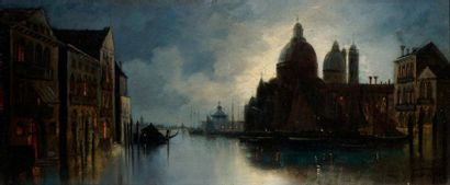 VAN HIER Joachim, 1834-1905  Venise, le Grand...