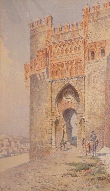 GIALLINA Angelos, 1857-1939  La Puerta del...