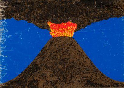 MARI Enzo, d'après  Le volcan, série de la...