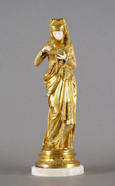 CARRIER-BELLEUSE, d'après  La Liseuse  bronze...