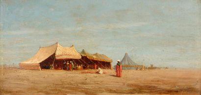 FRÈRE Théodore, 1814-1888  Tentes dans le...