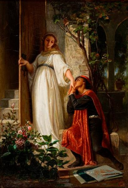 GENDRON Auguste Ernest, 1817-1881  Le peintre...