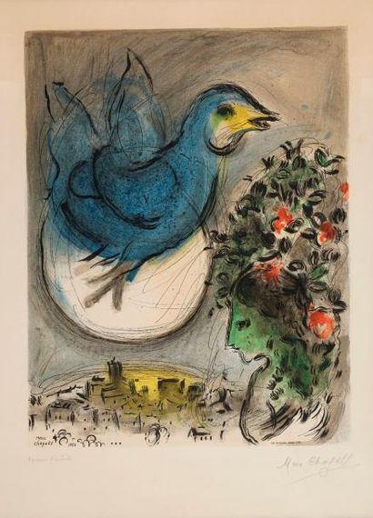 CHAGALL Marc, 1887-1985  L'oiseau bleu, 1954...