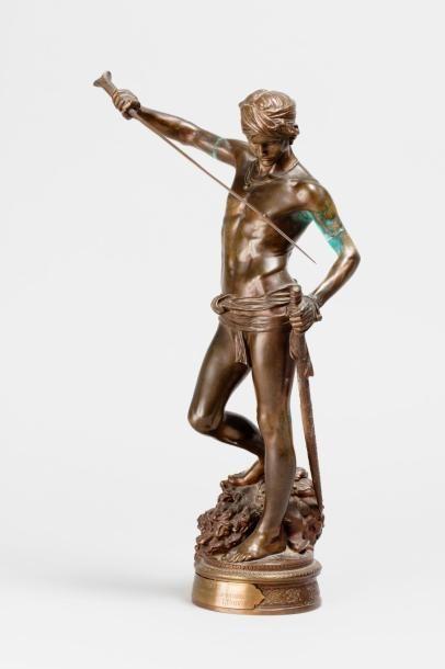 MERCIÉ Antonin, 1845/1916  David vainqueur...