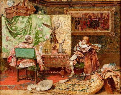 TOUDOUZE Édouard, 1848-1907  Le repos des...