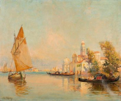 ALLÈGRE Raymond, 1857-1933  Venise  huie...