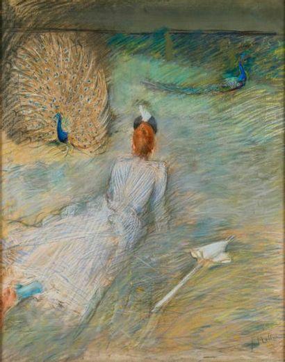 HELLEU Paul César, 1859-1927  Madame Helleu...
