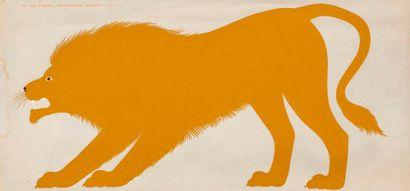 MARI Enzo, d'après  Le lion, série de la...