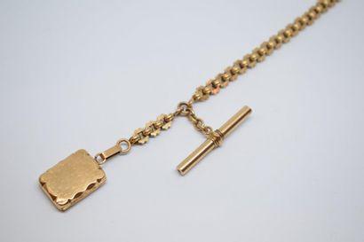 Chaine giletière en or jaune 18K (750) à...