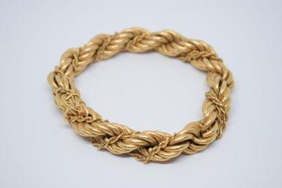 Bracelet en or jaune 18K (750) formé d'une...