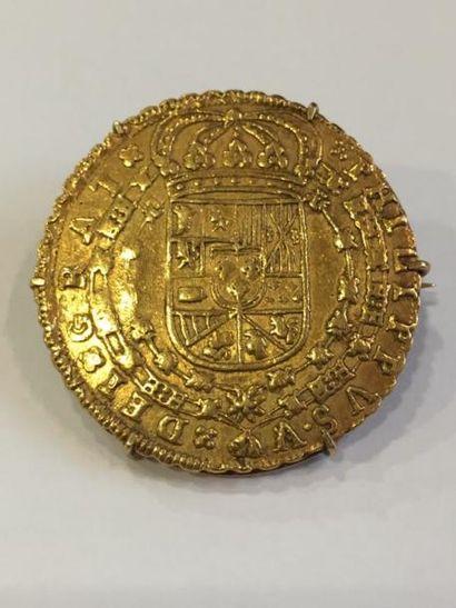 Philippe V (1700-1746)  8 escudos en or (1714,...