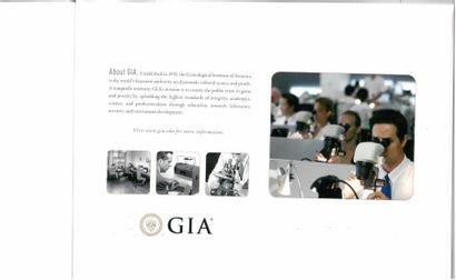Diamant avec son certificat GIA (16770306) d'avril 2017, indiquant : Taille Brillant...