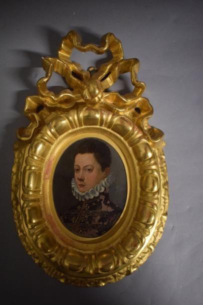 ECOLE ITALIENNE vers 1600 Portrait de jeune...