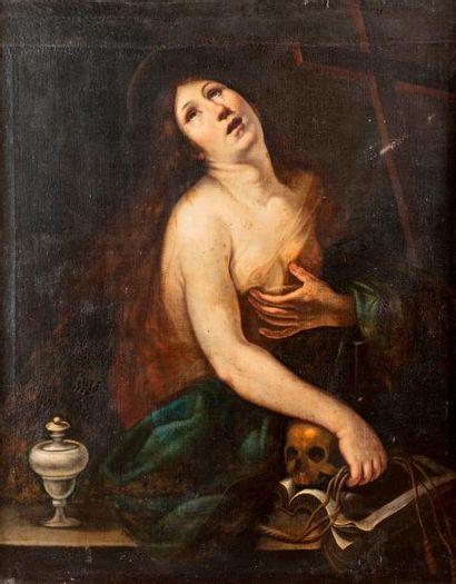 ECOLE BOLONAISE du XVIIe siècle    Madeleine...