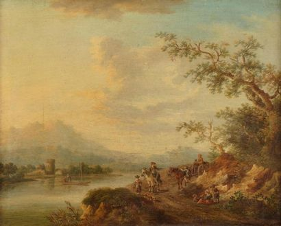 ECOLE ALLEMANDE du XVIIIe siècle  Entourage...