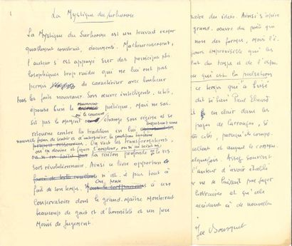 Jean COCTEAU (1889-1963). 9 L.A.S., 1946-1959,...