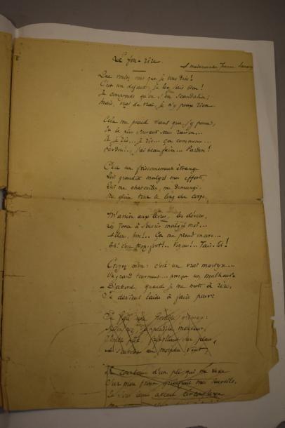 Jacques NORMAND (1848-1931)  Poème autographe...