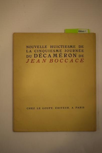 BOCCACE Jean, Nouvelle huictiesme de la cinquiesme...