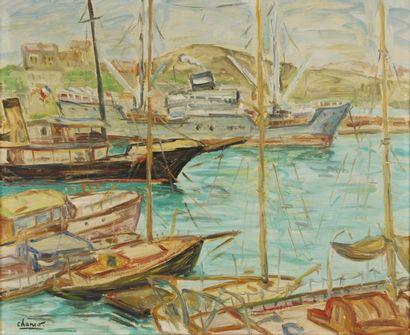 Port du Midi Huile sur isorel, signé en bas...
