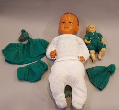 Gros bébé SNF en celluloïd, H=63cm. - Bébé...
