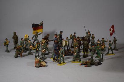 ELASTOLIN : Armée suisse et Armée allemande...