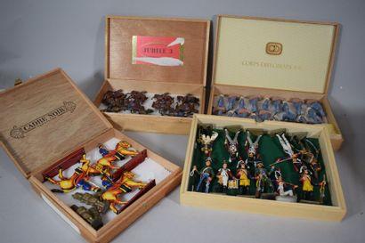 Boite comprenant 10 Cavaliers dont Cuirassiers...