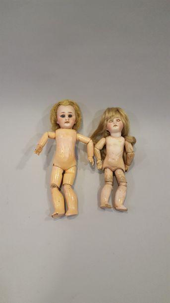 Petite poupée allemande, tête en biscuit,...