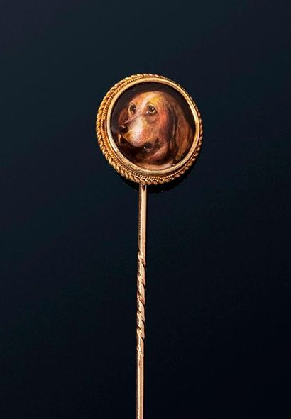 Epingle de cravate en alliage d'or 9k (375)...