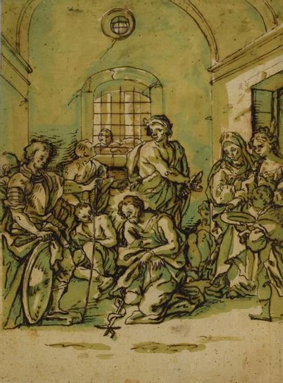 ECOLE ITALIENNE du XVIIIe siècle    La...