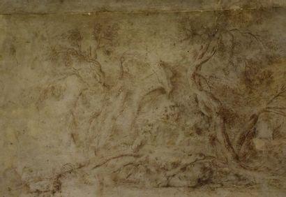Ecole italienne du XVIIIème siècle Deux paysages...