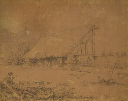 ROBERT Hubert (Attribué à) Paris 1733-1808...