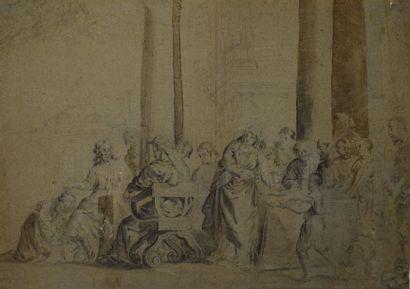 Ecole française néoclassique Paysage classique...