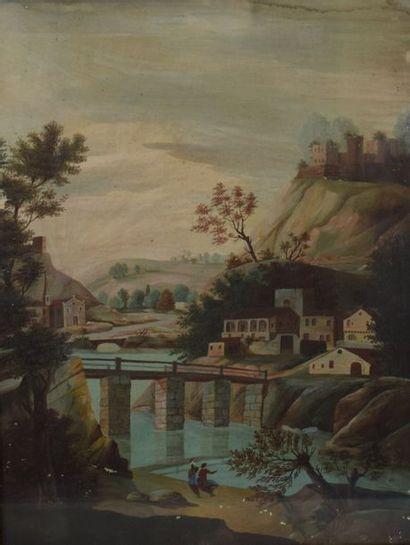 ECOLE FRANCAISE du XIXe siècle    Paysage...