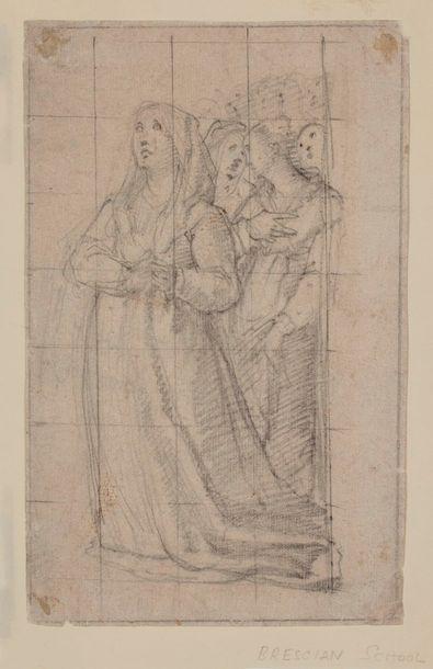 ECOLE TOSCANE Milieu du XVIe siècle    Sainte...