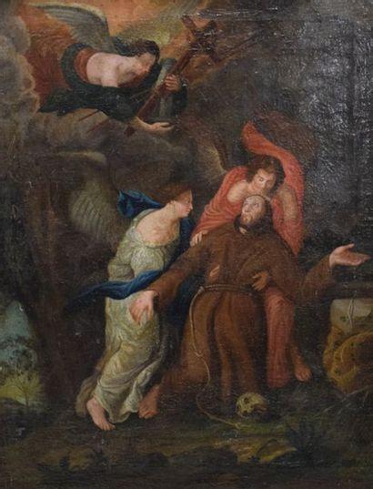 ECOLE FRANCAISE du XVIIe siècle    L'Extase...