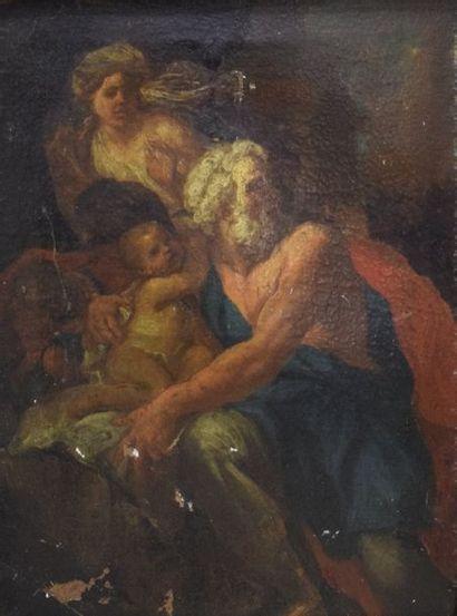 ECOLE ITALIENNE Fin du XVIIe siècle    Homme...
