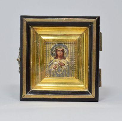 Icône de Sainte martyre Barbara. Tempera...