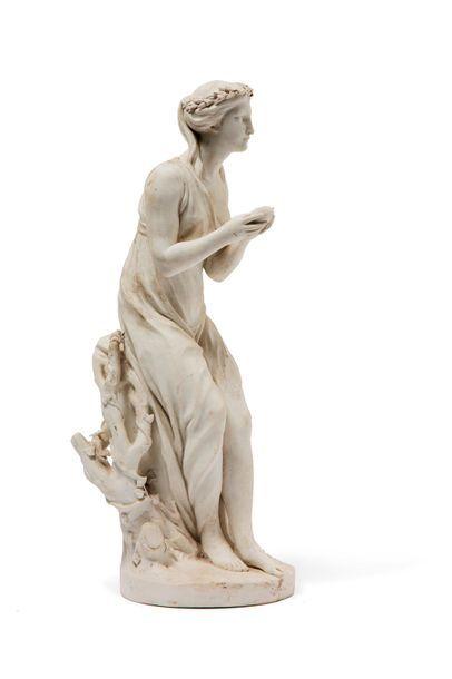 ANONYME XIXe siècle  Femme tenant un coeur...