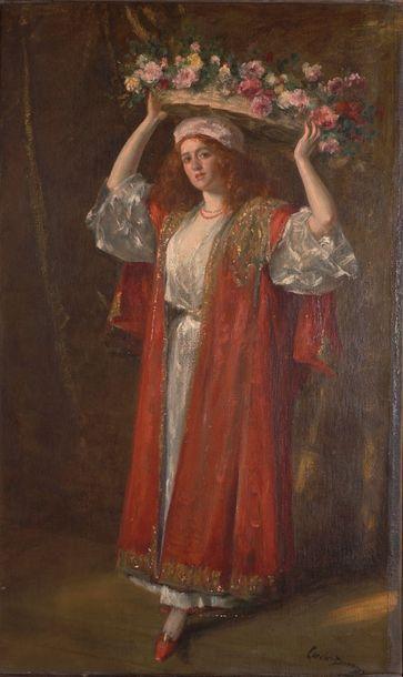 CAROLUS-DURAN, 1837-1917  Bouquetière au...
